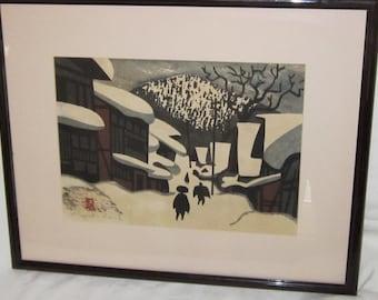 KIYOSHI SAITO Japanese Vintage Wood Block Print