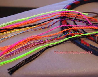 13 Nylon Whip Crackers Poppers; Pick Cracker Color & Knot Size FAST SHIP Handmade