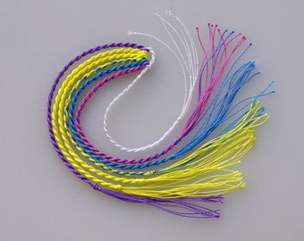 6 Dyneema EASY CRACK! Whip Crackers Poppers; Black Light REACTIVE! Pick Knot Size & TailEnds, Fast Ship, Handmade