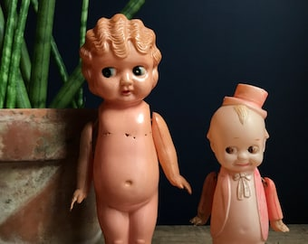 """Celluloid Kewpie Doll """"Voodoo Doll"""" With Movable Arms Made In Japan"""