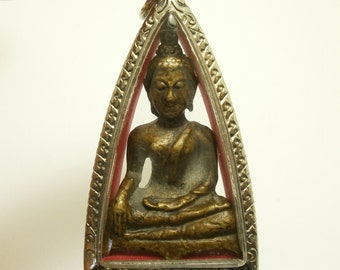 Phra LP Sod Wat Paknam Temple blessed 1957 2500 BE amulet Dhammakaya Thai Buddha real pendant dharma Yantra buddhist buddhism Thailand gift