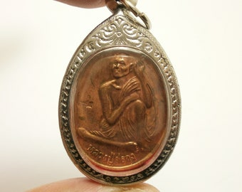 LP Suang coin Tevada Derndin SaoHa Batch pendant blessed 2000 Buddha powerful amulet multiply money strong protection lucky miracle charm