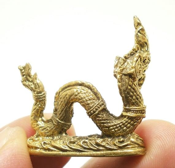 Messing-amulett Thailändisch Ouroboros Naga Phaya Nak Snake Schlange Thailand
