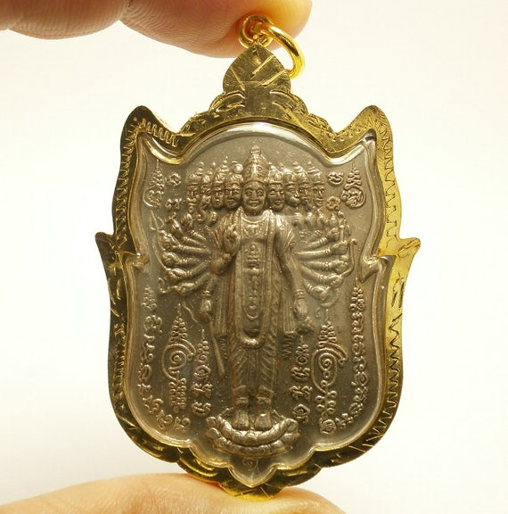 Vishvarupa universal form of lord Vishnu hindu amulet rare pendant blessed  for success in all wishes protection power & cross over obstacles