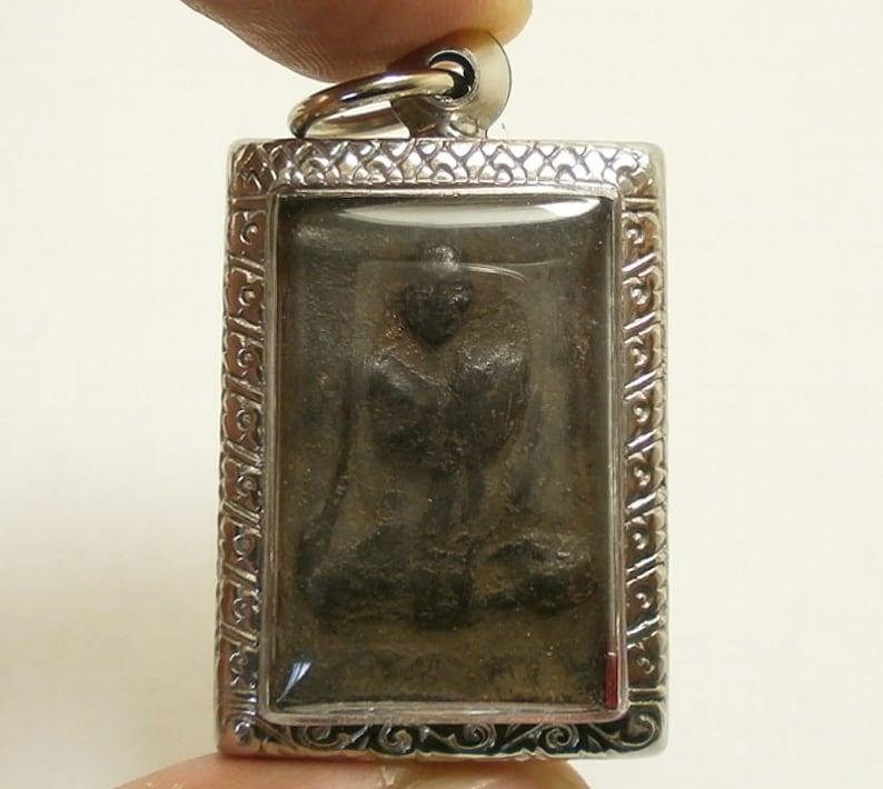 PHRA LP TUAD RARE OLD THAI BUDDHA AMULET PENDANT MAGIC ANCIENT IDOL#17