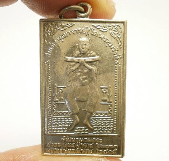 Somdej Garuda Metal Change Bad Luck to Good Rich Prosperity Thailand Amulet