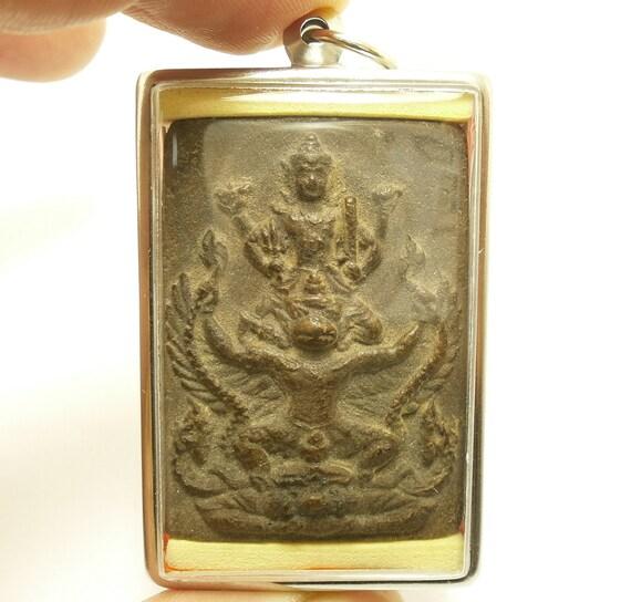 PHRA LP BOON RARE OLD THAI BUDDHA AMULET PENDANT MAGIC ANCIENT IDOL#29