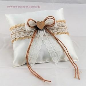 romantic cushion Whoopsidaisies creation Wedding ring bearer birds doves gray white accessory custom