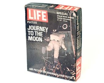 1969 Life Journey to the Moon Puzzle Vintage Retro