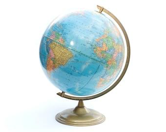 Cram's Imperial World Globe Vintage Antique