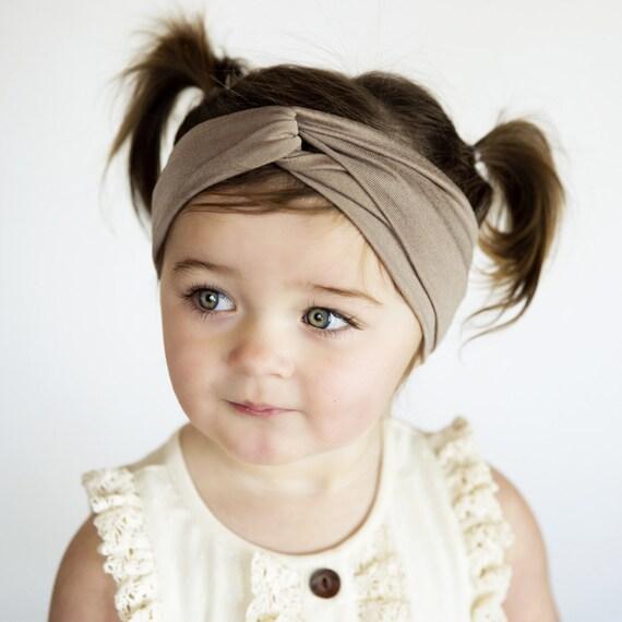 Kids Headband Kids Turban headband brownneutral sand baby  63f099f3e35