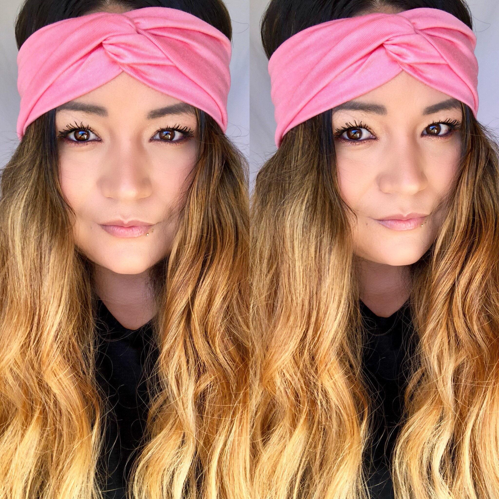 Headband Turban headband jersey pink Top Knot Twist  2d0a9dfc18c