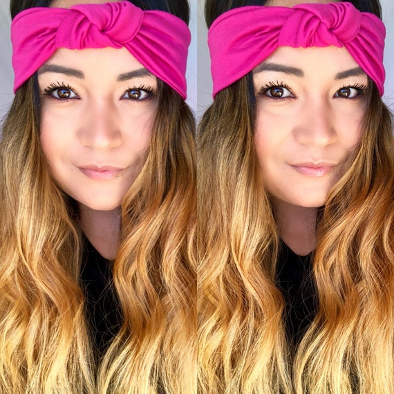 Headband Turban headband jersey pink turband Top Knot  b63094c1c16
