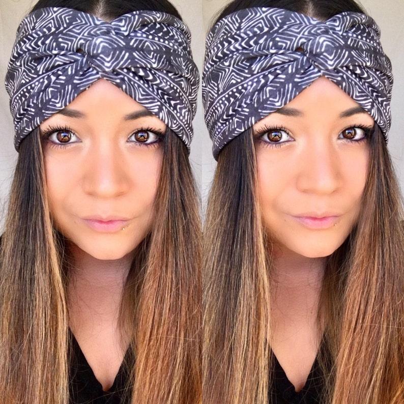 Headband Turban headband mudcloth Top Knot Twist headband  ce29128ffee