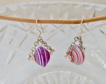 Paper jewelry Drop earrings Dangle earrings Wife gift for women Beaded earrings Birthday gift for mom Girlfriend gift  Mom gift for sister