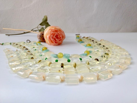 Beaded Necklace Gemstone Gift For Women Her