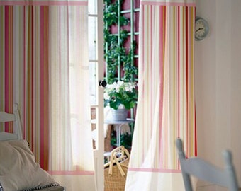 Nursery curtains boys Gray Pair Of 84l 46w Inch Custom Curtains Baby Room Kids Room Pink Stripes Cotton Stadtcalw Baby Nursery Curtains Pink Curtains Kids Curtains Pair Etsy