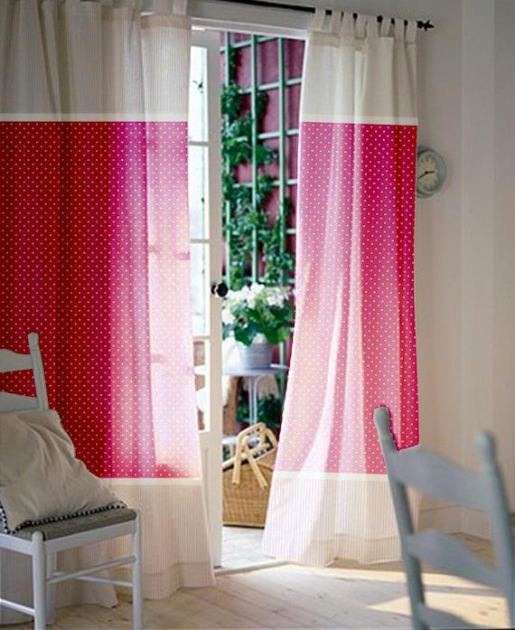Rosa Fenster Gardinen Madchen Kinderzimmer Vorhange Etsy