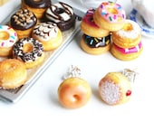 Cute Fun Donut Studs Earrings Girls Quirky Jewelry Birthday Gifts