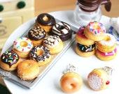Cute Fun Donut Studs Earrings Women Girls Quirky Jewelry Birthday Gifts