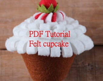 DIY Felt Food Pattern PDF Tutorial Cupcake Toy Of For Childrens Creativity Sewing Patterns Digital