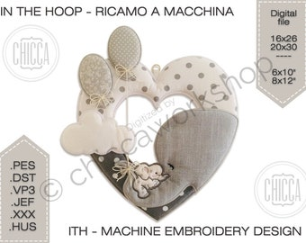ITH Heart Garland - Machine embroidery design with tutorial