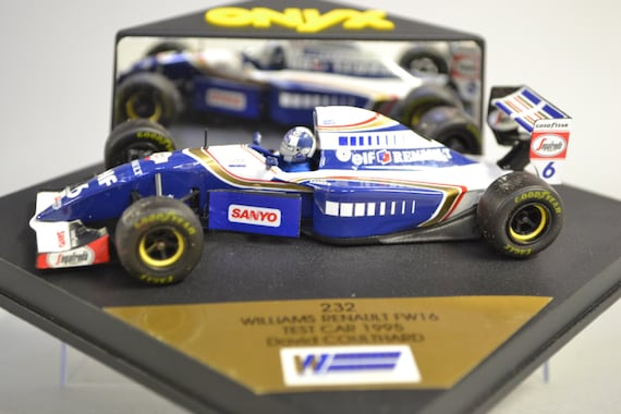 VENTE!. Onyx Williams Renault FW16 Test voiture 1995 David Coulthard