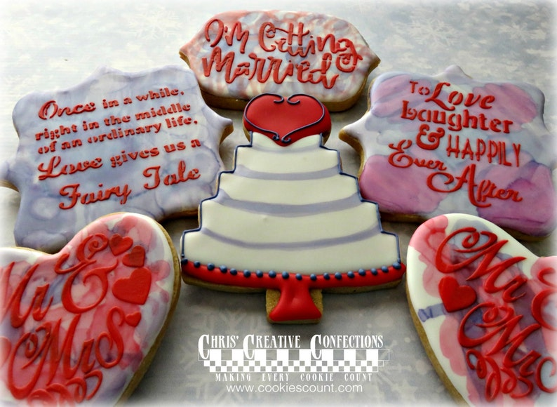 Engagement Congratulations Wedding Bridal Shower cookies image 0