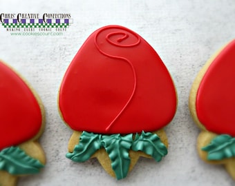 Rosebud cookies! One Dozen (12) Perfect for your Valentine!