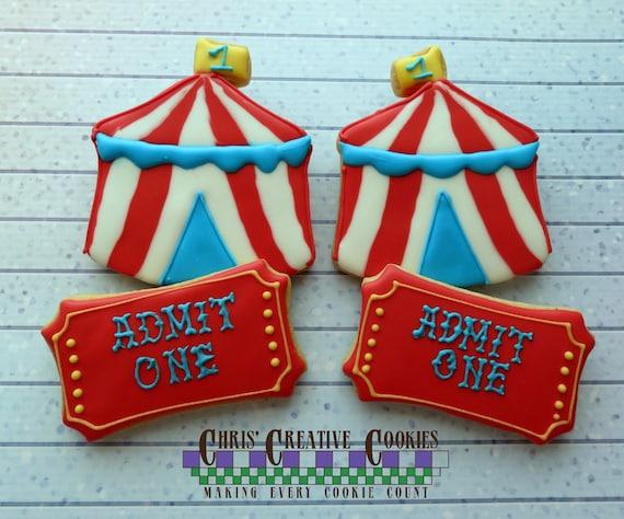 Circus numéro tout # 0-9 anniversaire Cookie Cutter Cupcake Topper Fondant