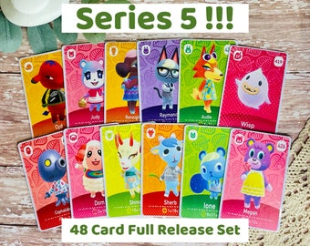 SERIES 5 Full Set: All 48 Cards! Raymond, Judy, Audie, Sherb, Dom, Cyd, Megan, Reneigh, PLUS 40 others! PREORDER Custom Made Amiibo Cards
