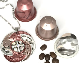 """Nespresso®*long necklace*Medallion""""Jewelry""""Jewelry""""Necklace*Gift*Birthday*Ball chain*Women*Pullover*Chain pendant*Women*closure*"""