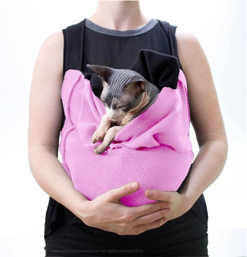 The SLINX sling Sphynx Cat or Dog hands free safe front Pet image 0