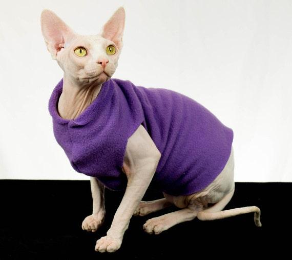 Cat Clothes Cat Shirt Sphynx Cat Clothes Purple Amethyst Etsy