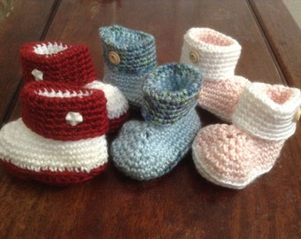 2e796ef4b4ae6 Stylish Cowboy Baby Boots Crocheted in 3 different Colors