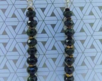 Jade and Hematite Earrings with Sterling Silver Hooks - B.C. Jade