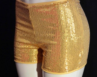 Short and Sweet style roller derby shorts in Sequin Mystique made to order