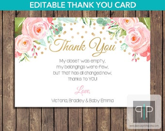 Baby shower thank you cards | Etsy