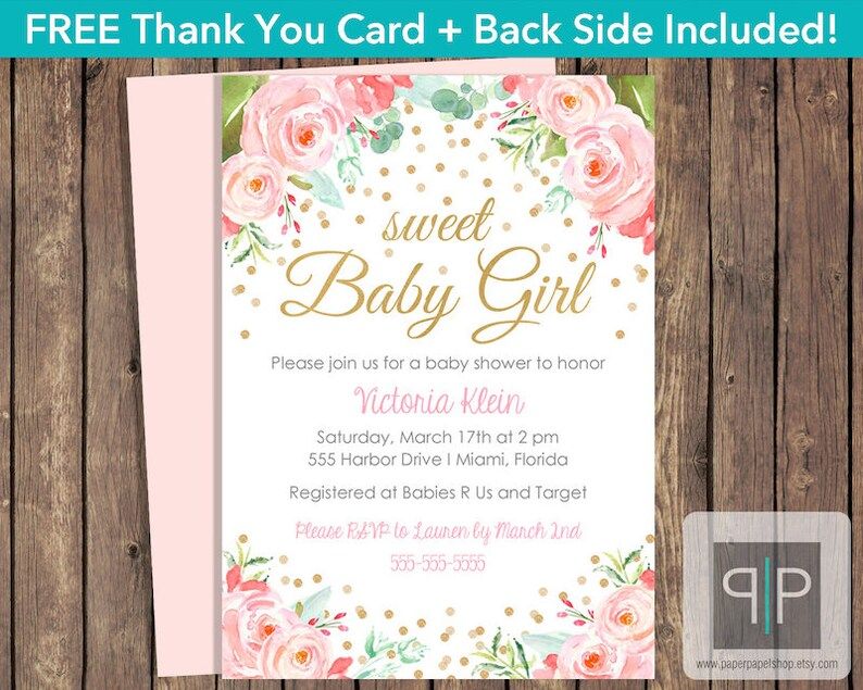 INSTANT DOWNLOAD Roses Baby Shower Invitation, Editable Pink Roses Baby  Shower Invitation, Printable Girl Rose Baby Shower Template, P25