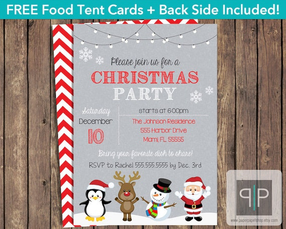 instant download christmas party invitation editable printable