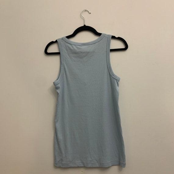 Vintage Baby Blue Sleeveless Lacoste Shirt - image 3