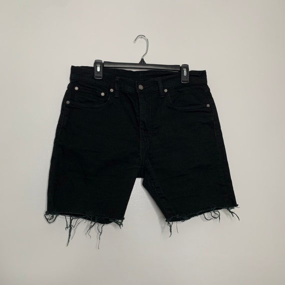 Vintage Black Levis Cut Off Denim Shorts