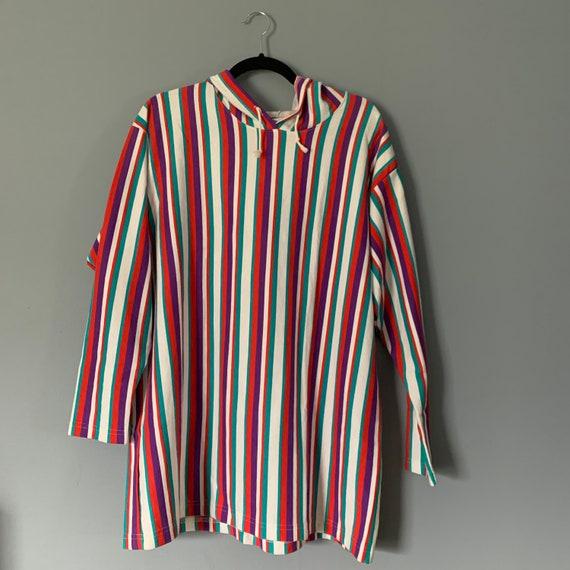 Vintage Multicolor Striped Hoody
