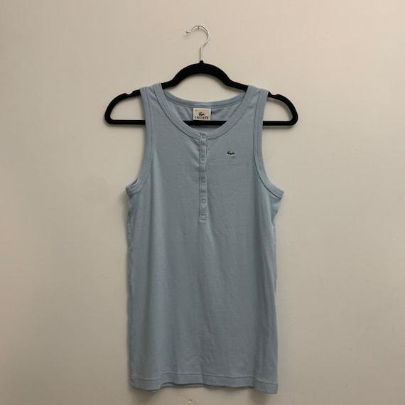Vintage Baby Blue Sleeveless Lacoste Shirt - image 1