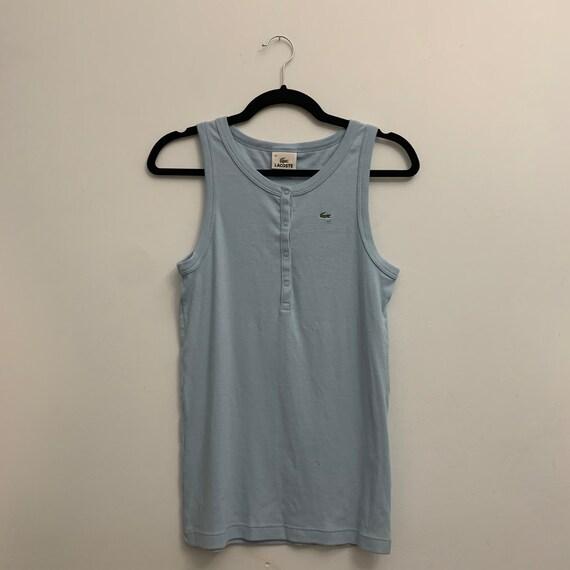 Vintage Baby Blue Sleeveless Lacoste Shirt