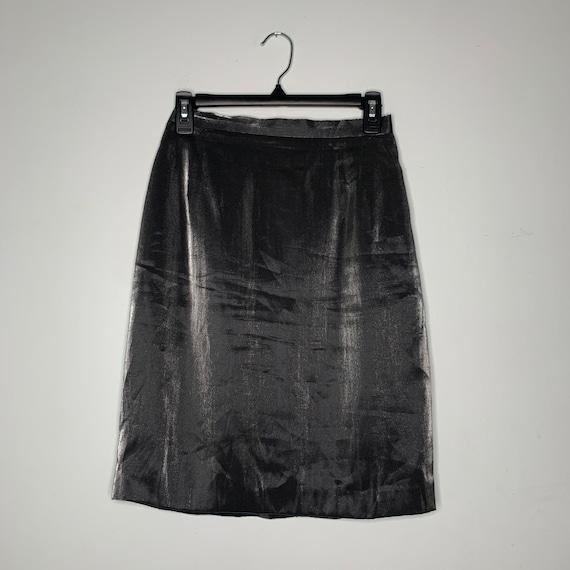 Vintage Silver Metallic Reflective Mini Skirt