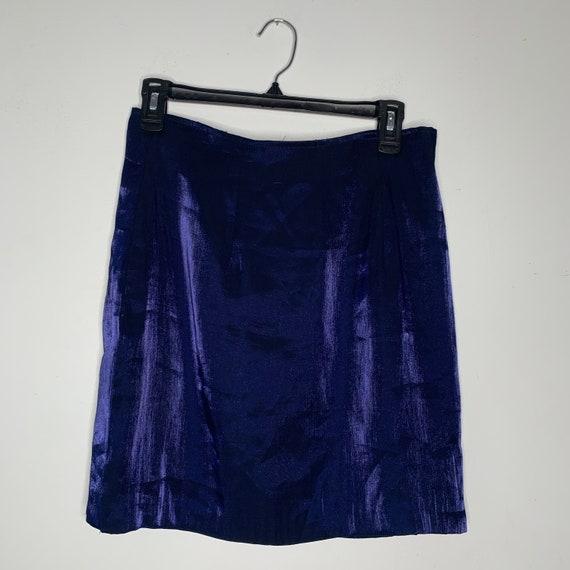Vintage Blue Metallic Reflective Skirt