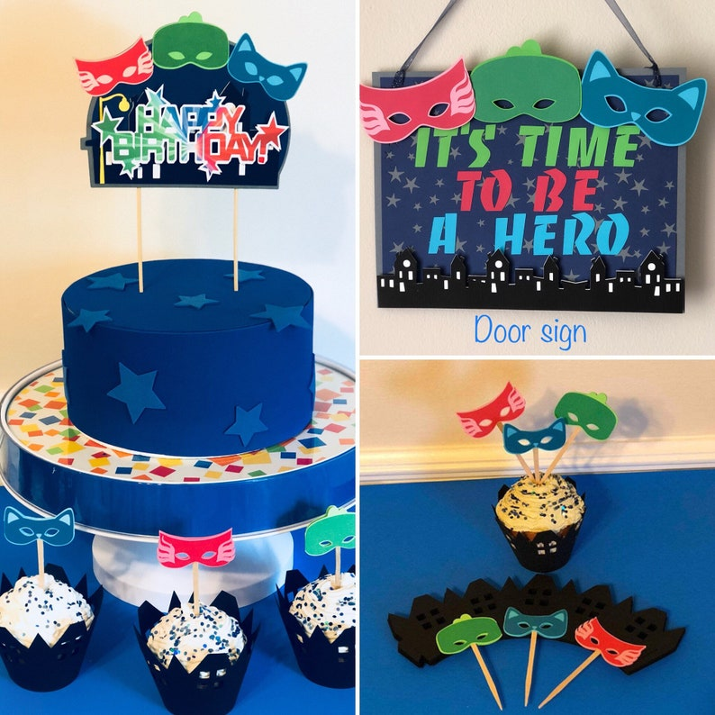 PJ Masks Door Sign Party Decorations