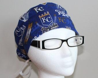newest 01264 cd426 Women s Tie Back Kansas City Royals Surgical Scrub Hat