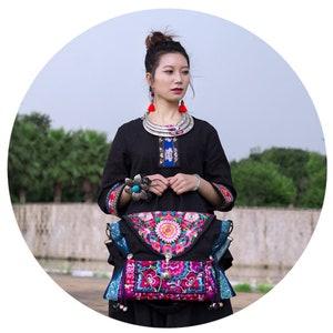 laptop bag messenger bag Diaper Bag or Camera Bag,Canvas shoulder bag purse TOTE Handbag,Vintage Embroidered Cloth Hmong Bag hobo dia